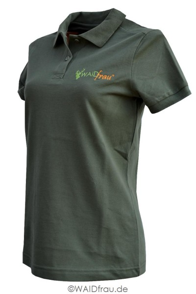 Waidfrau Damen Poloshirt Kurzarm