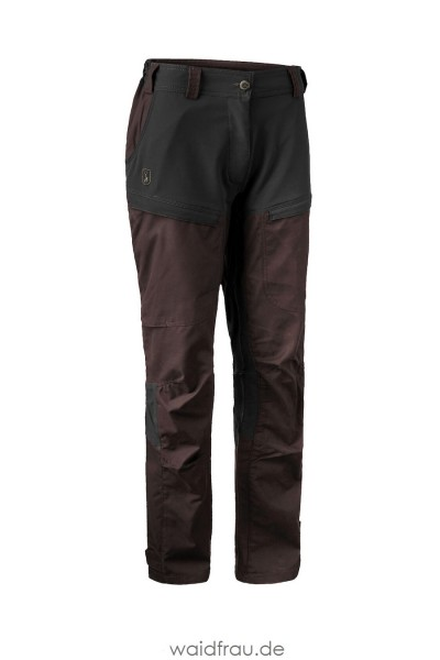 Deerhunter Damen Jagd und Outdoor Hose Lady Ann Dark Prune / Braun