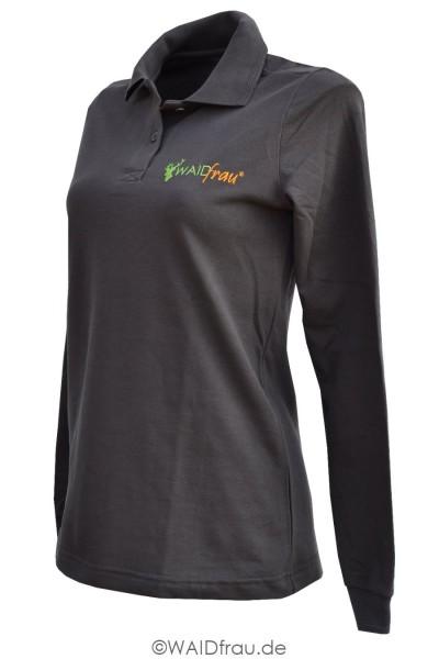 Waidfrau Damen Poloshirt Langarm